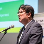 日本熱源システム株式会社 代表取締役社長 原田 克彦氏(写真は「ATMOSphere Japan 2020」のもの)
