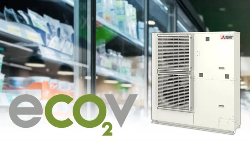 スウェーデンにて展開される三菱電機株式会社のCO2冷媒使用コンデンシングユニット「ECOV」