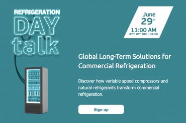 Embraco社、6月29日にライブウェビナー「REFRIGERATION DAY Talk」開催