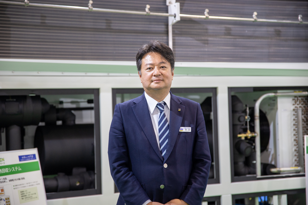 日本熱源システム株式会社 代表取締役社長 原田 克彦氏(「FOOMA JAPAN 2021」にて)