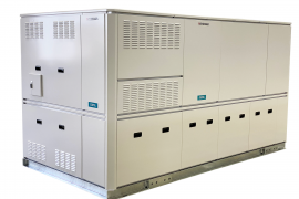 株式会社前川製作所の中型低温用空冷式CO2冷凍機ユニット「COPEL」